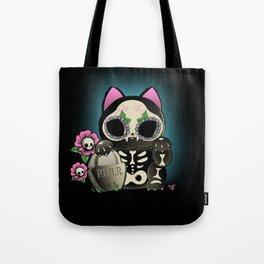 Lucky Cat De los Muertos Tote Bag