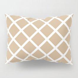 Criss-Cross (White & Tan Pattern) Pillow Sham