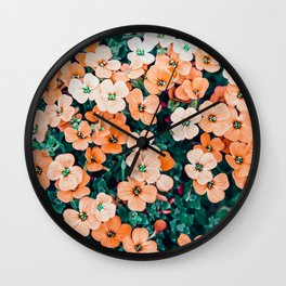 Floral Bliss #photography #nature Wall Clock