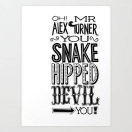 Alex Turner Art Print