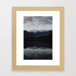 catching the sunrise at lake matheson Framed Art Print
