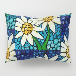 Bathing Beauties - Two best friends...white daisies...by Sharon Cummings.  Labor of Love series. Pillow Sham