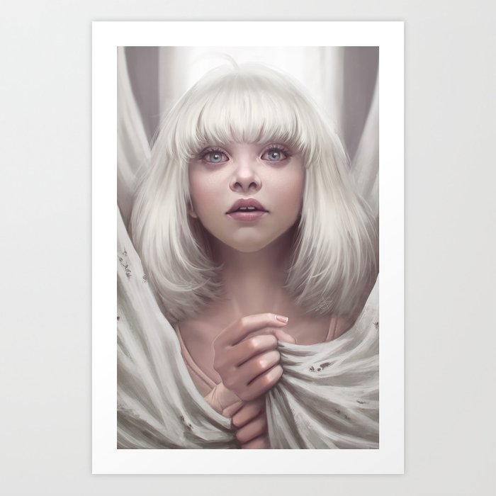 Maddie ziegler sia chandelier art print by ayyasap society6 maddie ziegler sia chandelier art print aloadofball Image collections