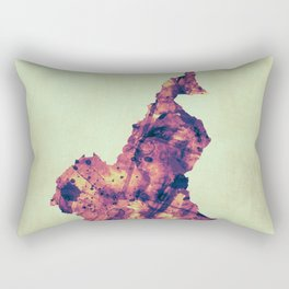 Cameroon Map with Flag Rectangular Pillow