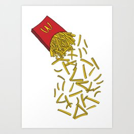 Falling Fries Art Print