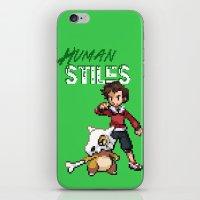 stiles stilinski iPhone & iPod Skins featuring PokeWolf: Stiles Stilinski by Trickwolves