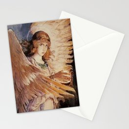 Angel With A Lamp by Victor Vasnetsov Stationery Cards