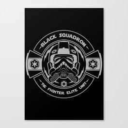 Black sqaudron Canvas Print