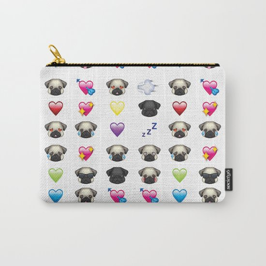 Emoji Pug Carry-All Pouch