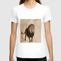 decal T-shirts featuring Lion by haroulita