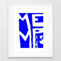 memphis Framed Art Prints featuring MEMPHIS by John Weeden