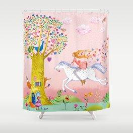joyful springride Shower Curtain