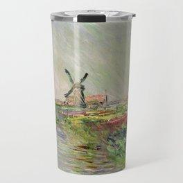 Monet, Tulip Field in Holland, 1886 Travel Mug