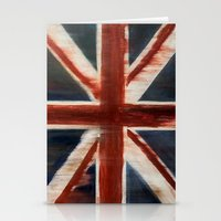 union jack Stationery Cards featuring Union Jack by breezy baldwin