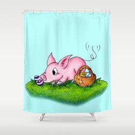 Egg Hunter Shower Curtain