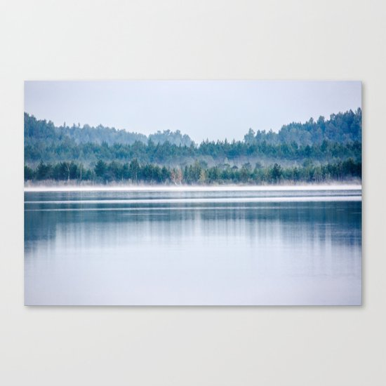 Morning begins with mist Canvas Print