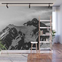 Shuksan Shine Black and White Wall Mural