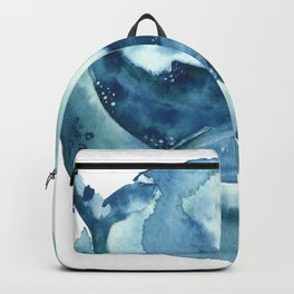 blue moon whale Backpack