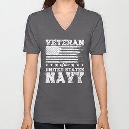 Veteran of The United States Navy Military Soldier Army Design Unisex V-Neck