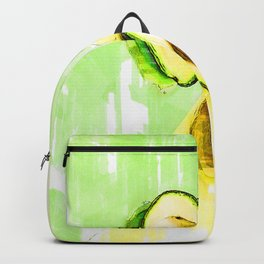 Two Tones Split Avocados. For Avocado Lovers Backpack
