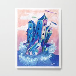 Crystal Castle by Mary Bottom Metal Print