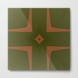 Box Wine Kaleidoscope Square I (Bota Box Chardonnay) Metal Print