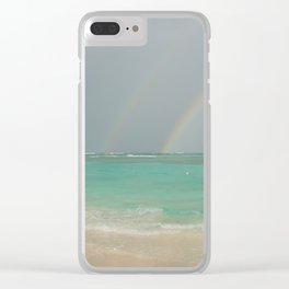 Double rainbow Punta cana Clear iPhone Case