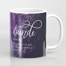 Duende Word Nerd Definition - Purple Universe Stars Coffee Mug