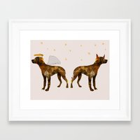 puppies Framed Art Prints featuring puppies by shrewmole