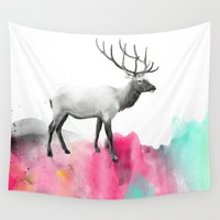elk Wall Tapestries featuring Wild No. 2 // Elk by Amy Hamilton