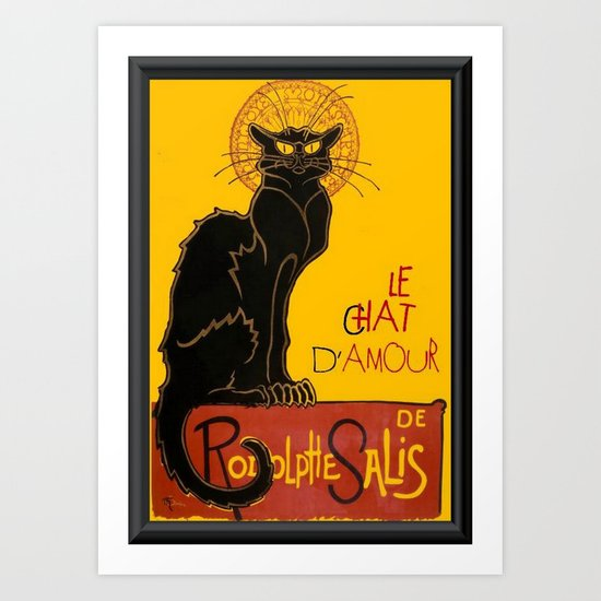 Le Chat D'Amour Greeting Card  Art Print