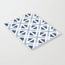 Geo Stamp Blue Notebook