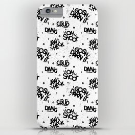 PG Cussin' Pattern iPhone Case