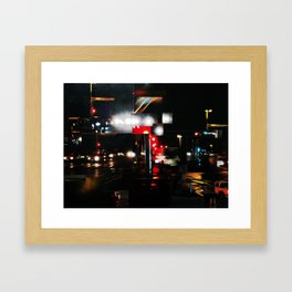 CALZADA DE NOCHE Framed Art Print