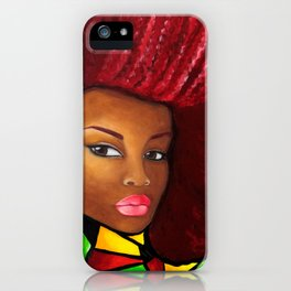 Grounded - Afro Natural Hair Art iPhone Case