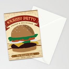 Krabby Patty Stationery Cards