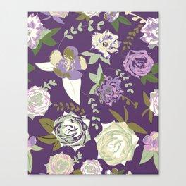 Dark velvet roses Canvas Print