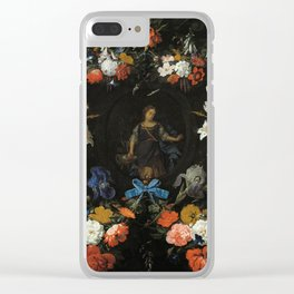 Garland of Flowers, 1675 by Abraham Mignon Clear iPhone Case