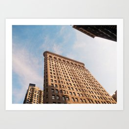 Looking up to the Flatiron Building | NYC Art Print