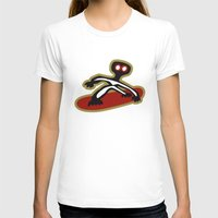 snowboard T-shirts featuring snow, snowboard, mountain, montagna, tavola by Caiocomix