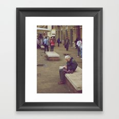 Tired Framed Art Print