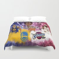 basketball Duvet Covers featuring Basketball  by RickART