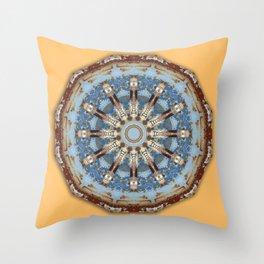 Colors of Rust 010 / mandala-style-rust Throw Pillow