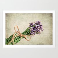 lavender Art Prints featuring Lavender by ThePhotoGuyDarren