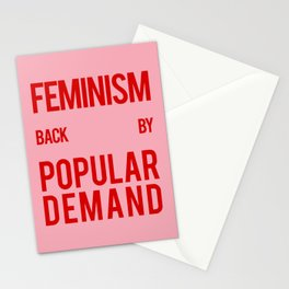 FEMINISM: BACK BY POPULAR DEMAND Stationery Cards