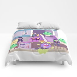 Tiny Worlds - Rocket HQ Comforters