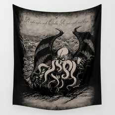 The Rise of Great Cthulhu Wall Tapestry