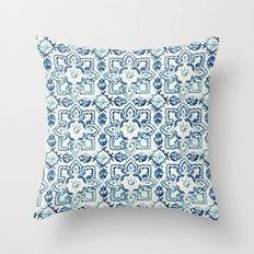 tile pattern IV - Azulejos, Portuguese tiles Throw Pillow