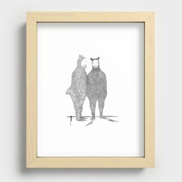 Two Bears Get Married Recessed Framed Print