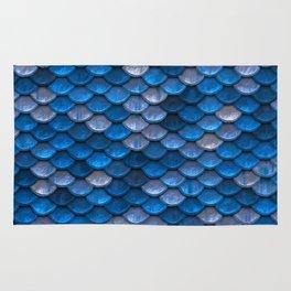 Mermaid Blues Scales Rug